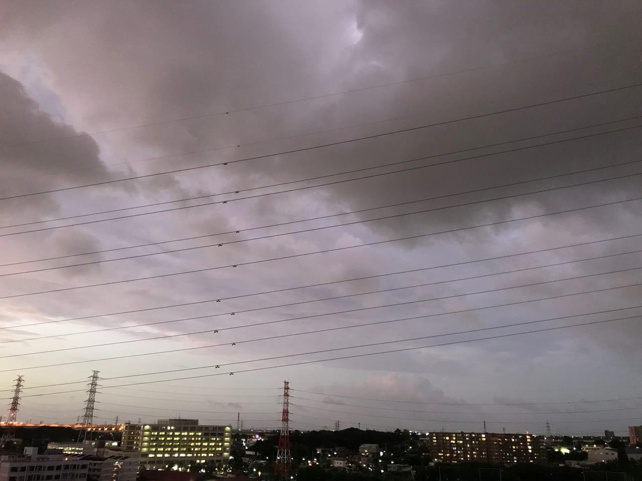 台風15号川口上空20190908
