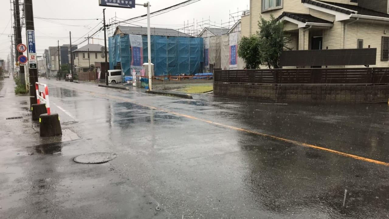 川口の雨の様子